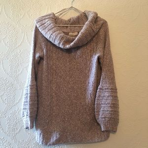 Anthropologie Light Pink Chunky Knit Sweater